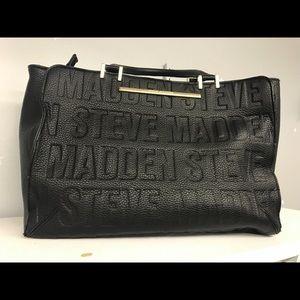 Handbags - Steve Madden Large Black Tote & Matching Wallet